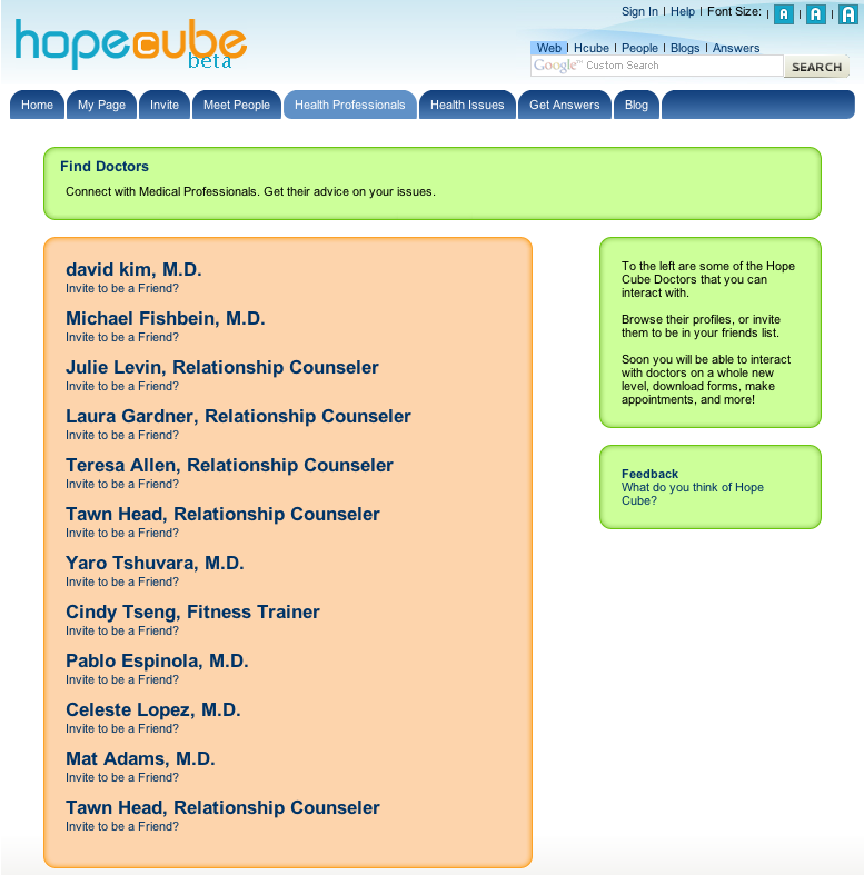 hopecube-health-professionals