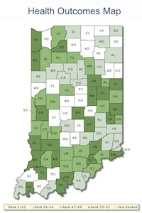 Indiana health outcomes map