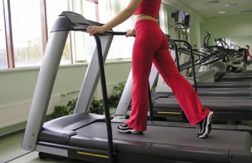 Exercise on a treadmill
