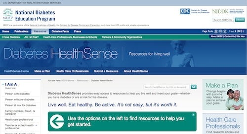 NDEP Diabetes HealthSense