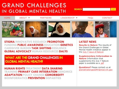 Grand Challenges in Global Mental Health