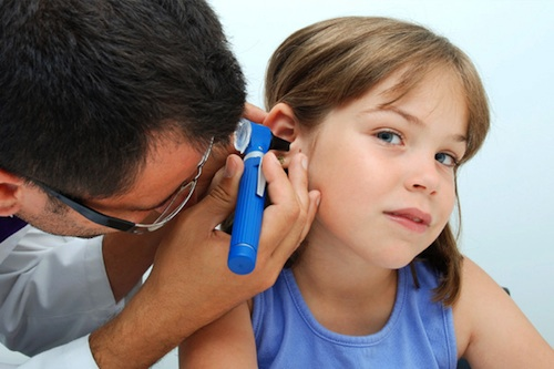 Child ear examination