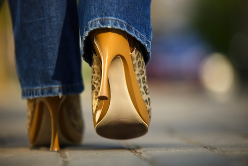 Walking in high heels