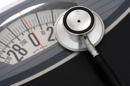 Scale and stethoscope