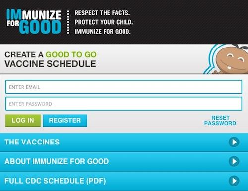 Create a vaccine schedule