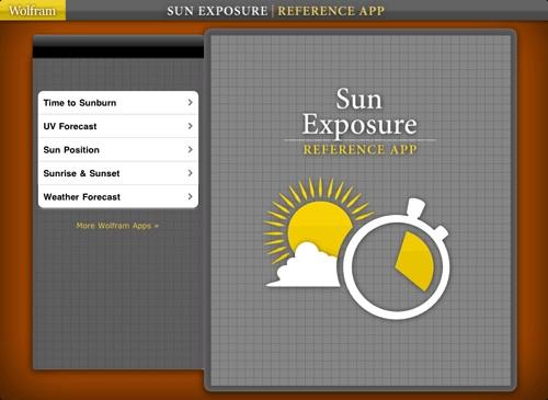 Sun exposure reference app