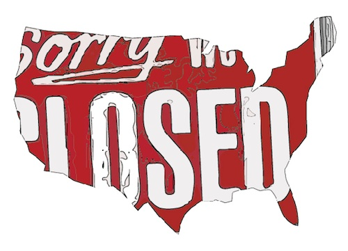 US is closed