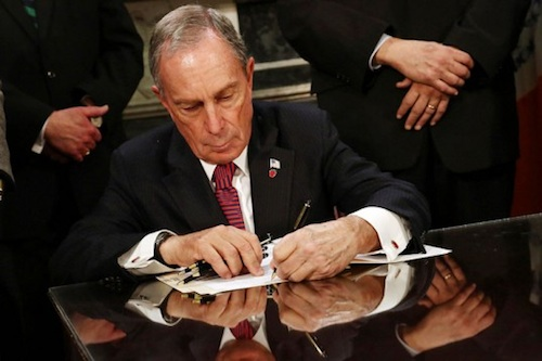 Mayor Bloomberg e-cigarette legislation