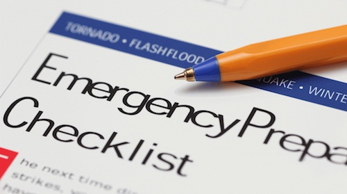 Emergency prepardness checklist