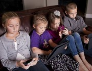 Kids consuming media